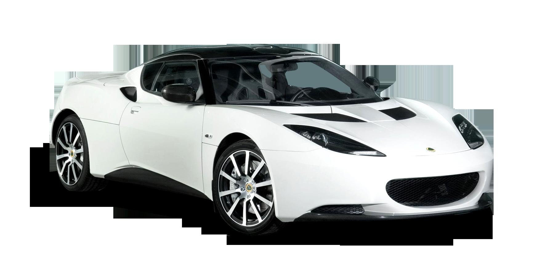 White Lotus Evora Carbon Car PNG Image