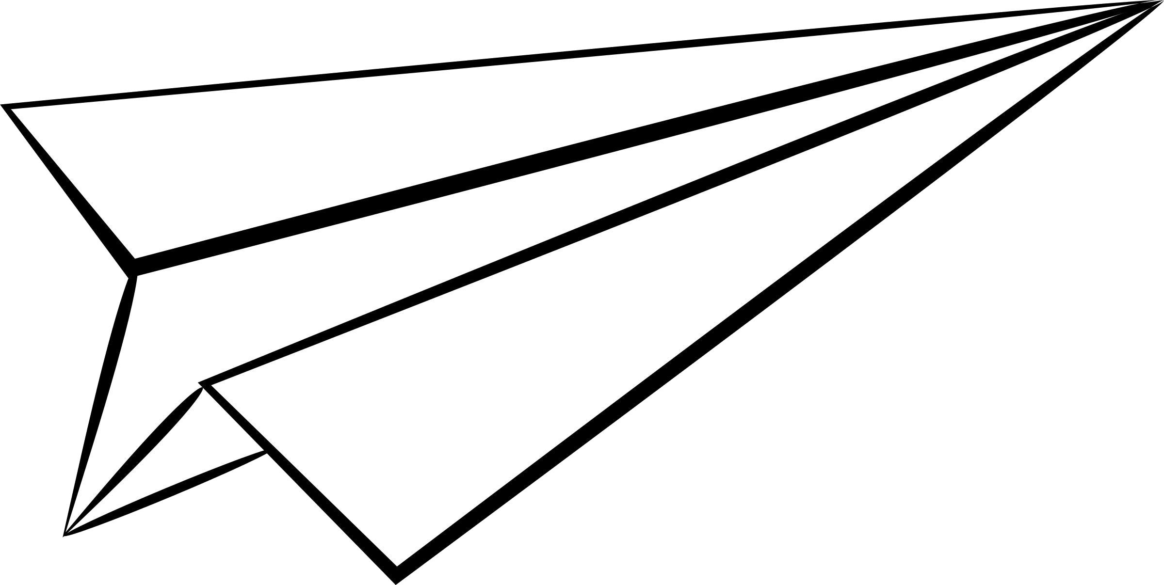 White Paper Plane PNG Image