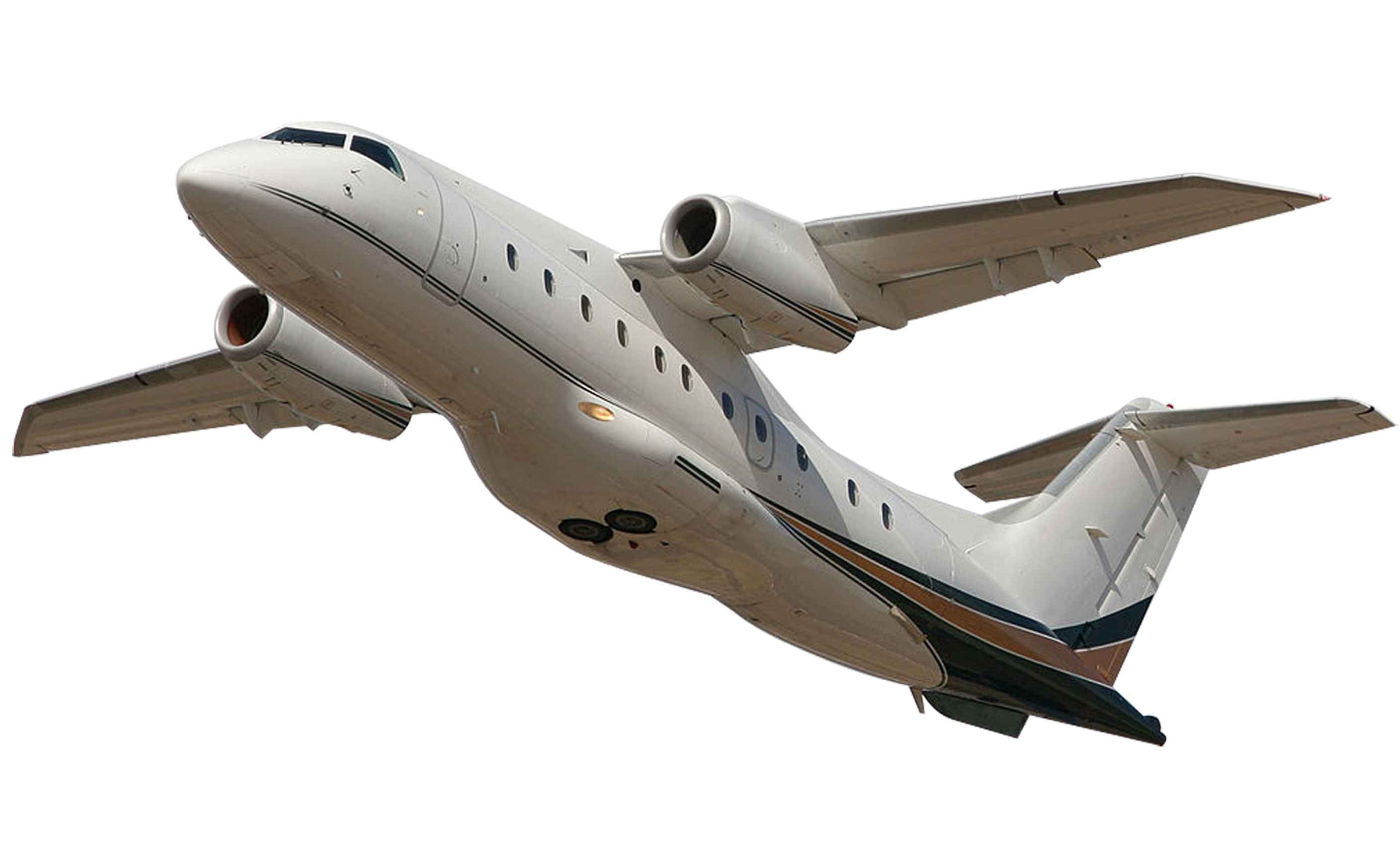 White Plane PNG Image