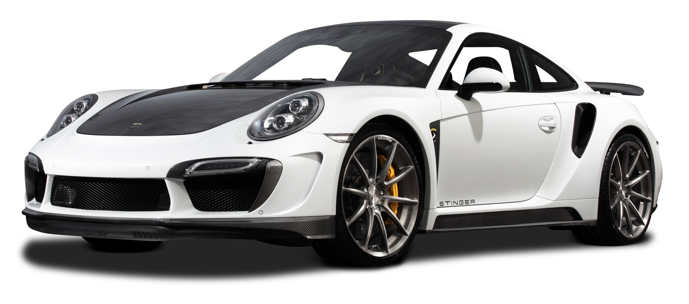White Porsche 991 Turbo Car