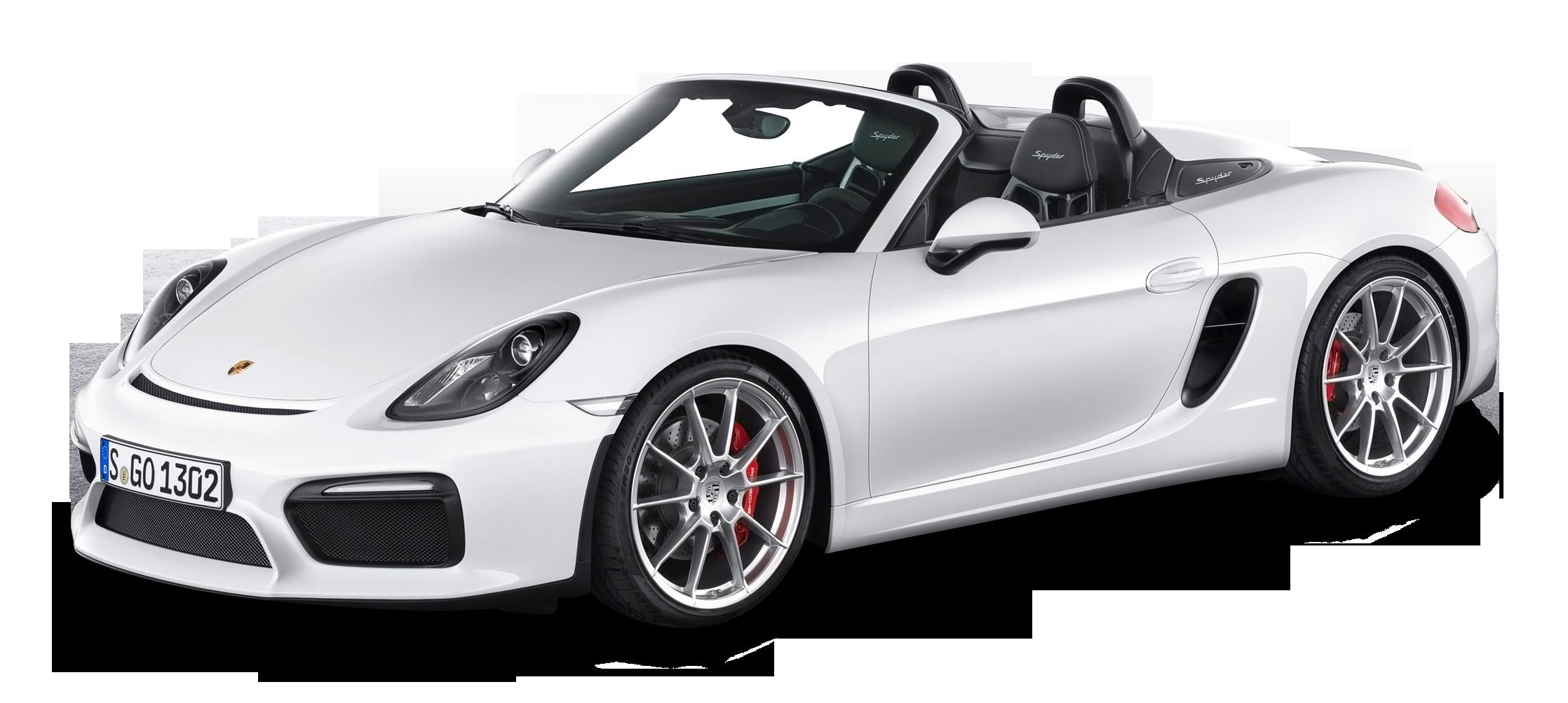 White Porsche Boxster Spyder Car