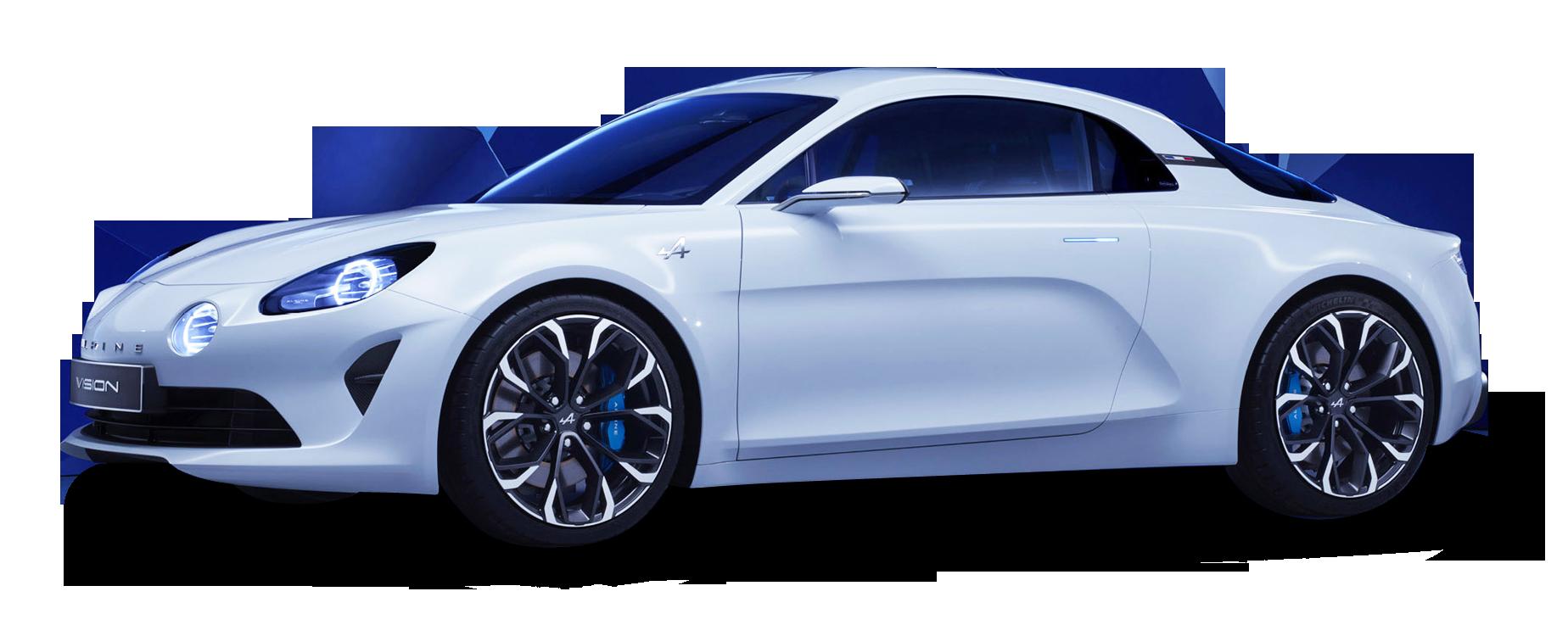 White Renault Alpine Car