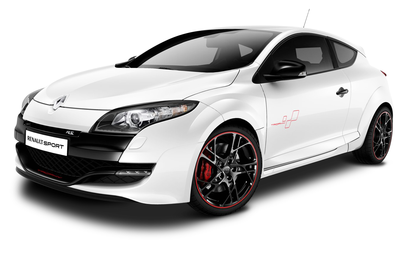 White Renault Megane RS Trophy