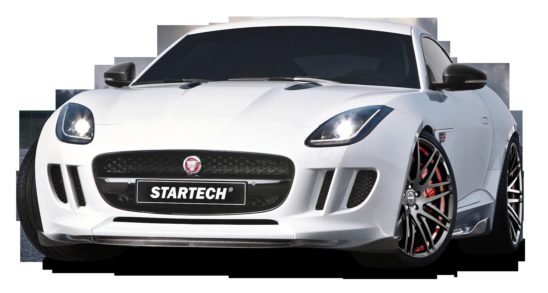 White Startech Jaguar F Type Coupe Sports Car Png Image Purepng