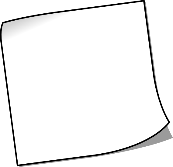 White Sticky Notes PNG Image