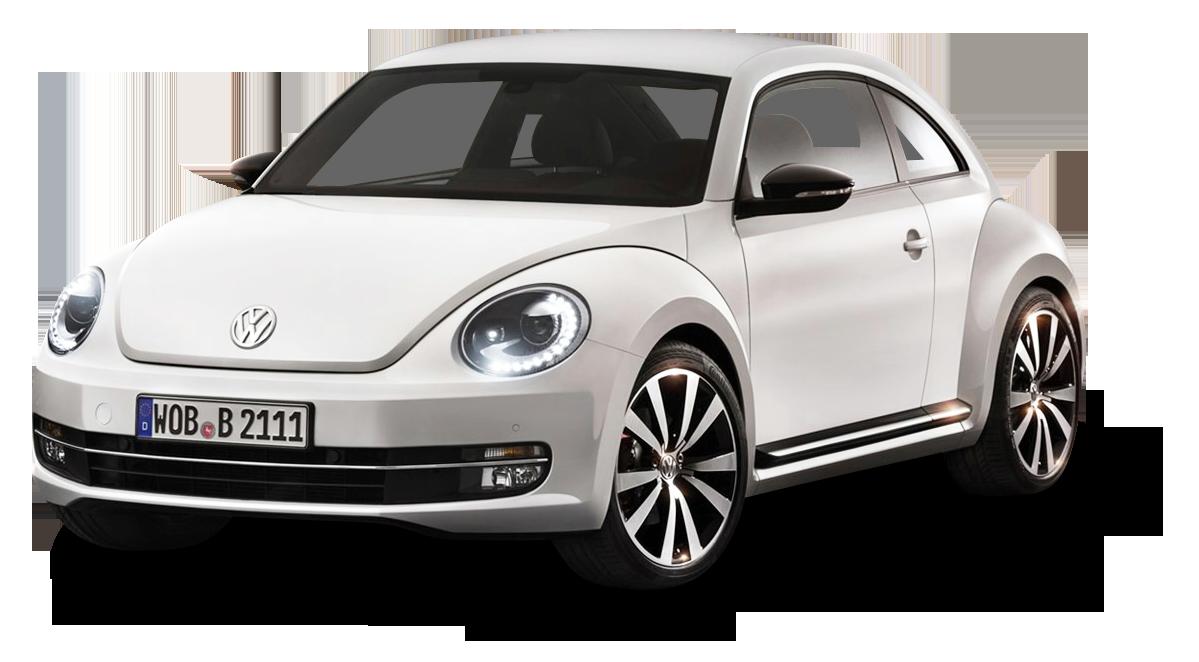 White Volkswagen Beetle Car PNG Image