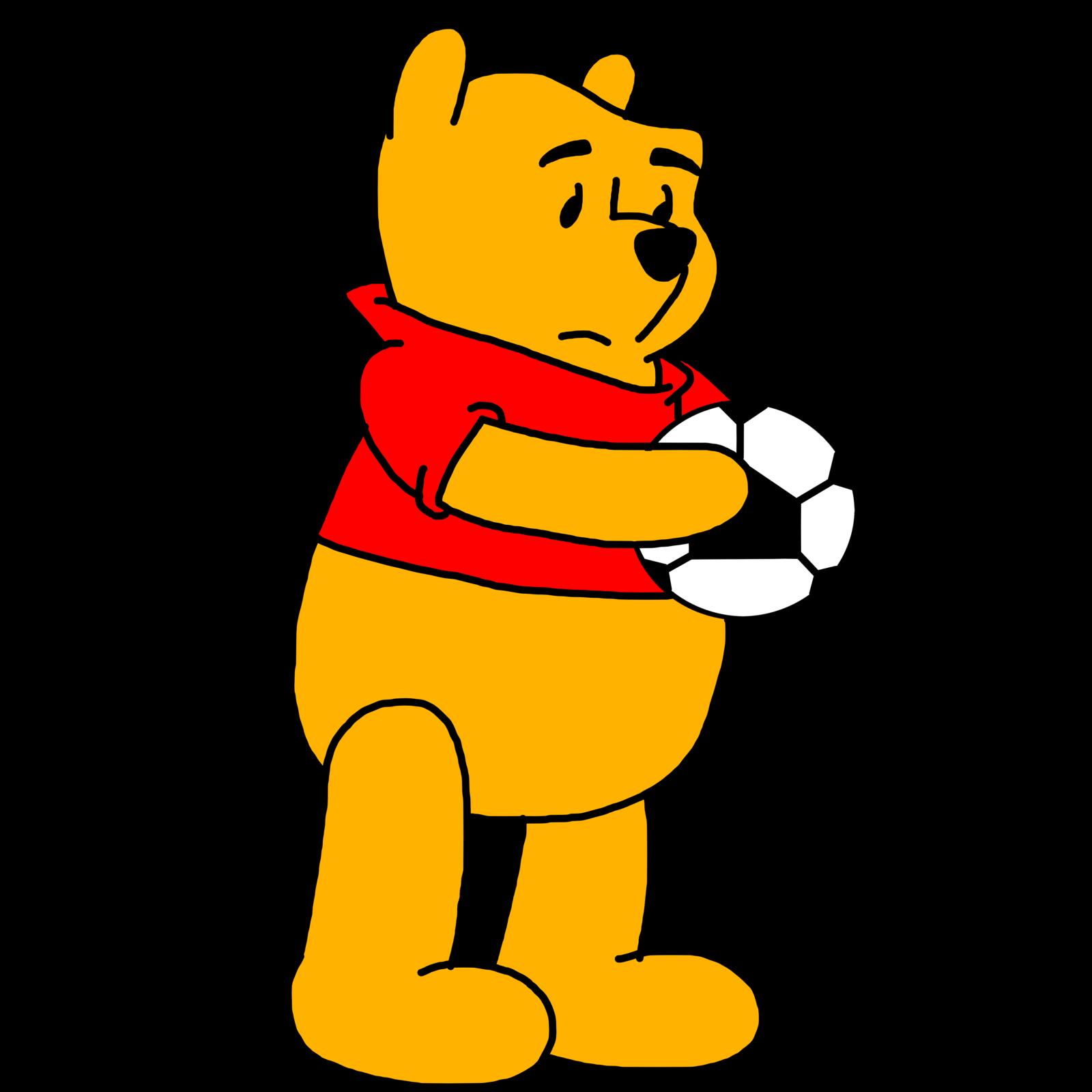 Winnie Pooh Holding Soccer