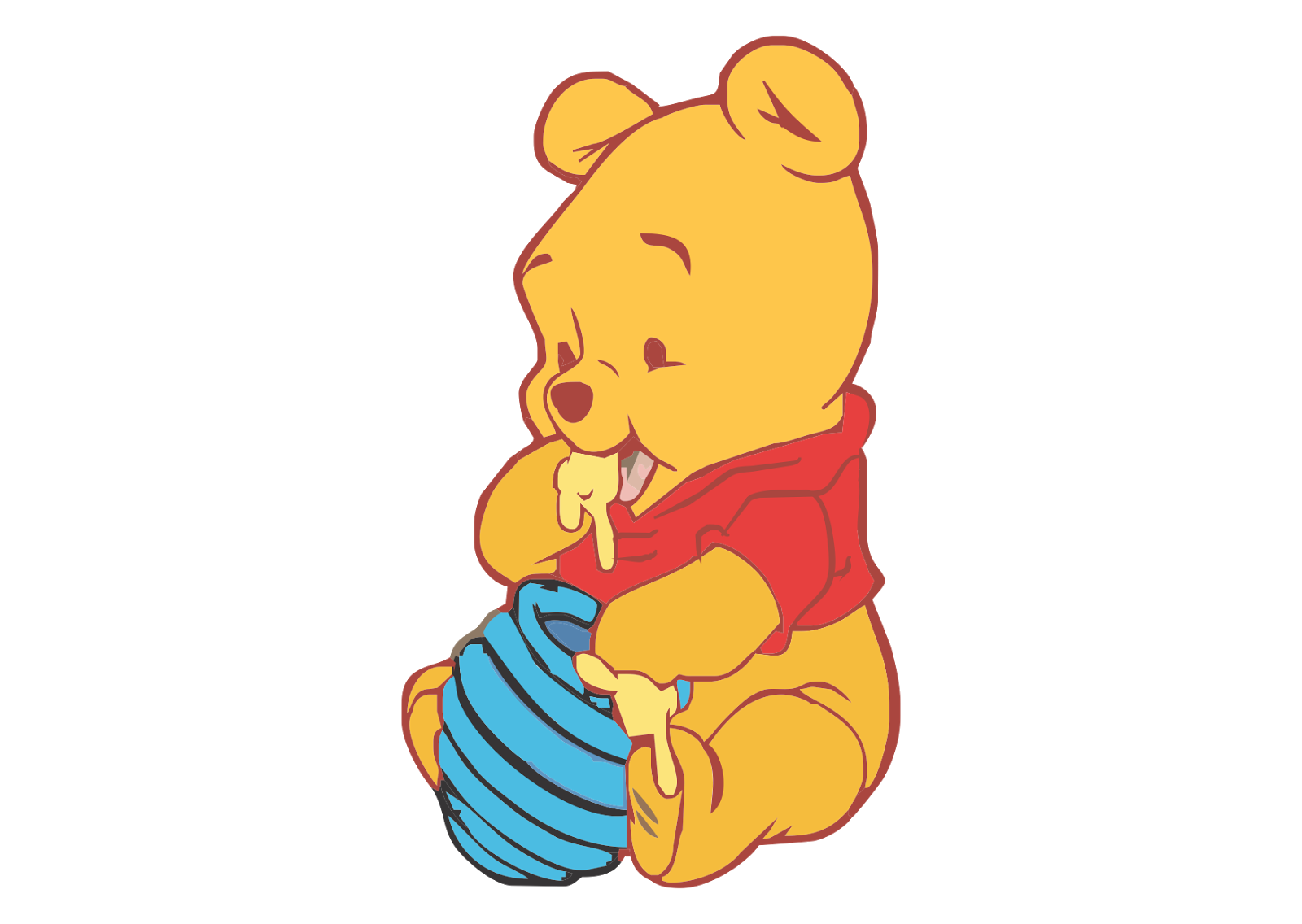 Winnie The Pooh  - Baby PNG Image