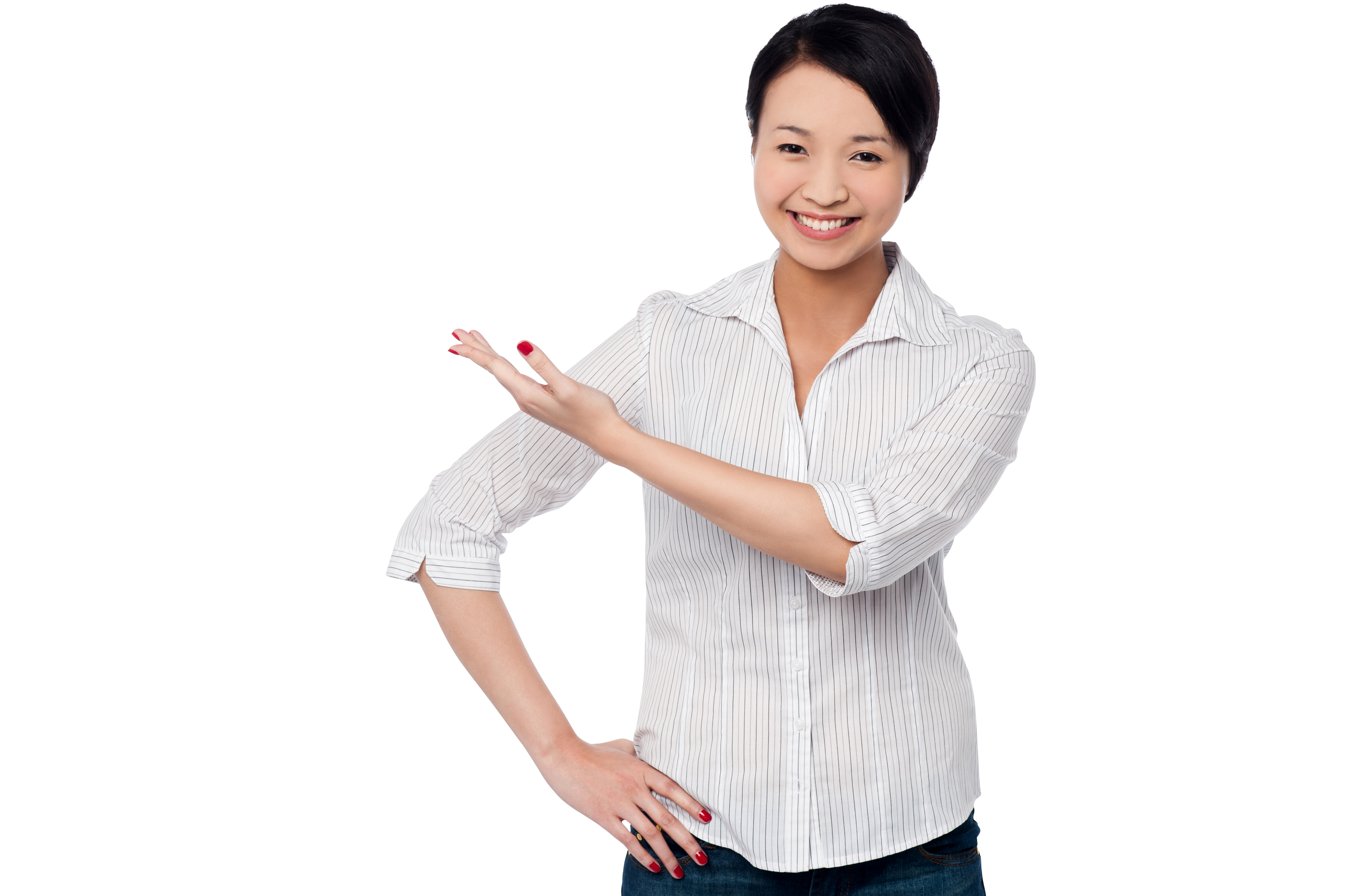 Women Pointing Left