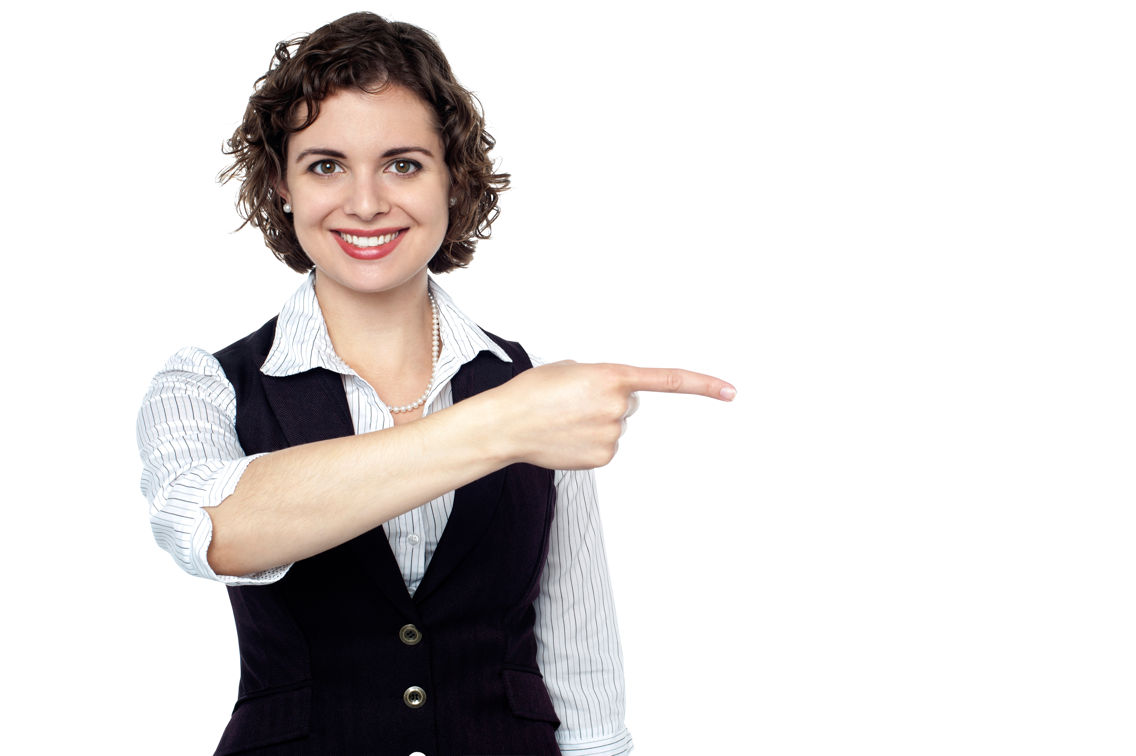 Women Pointing Right PNG Image