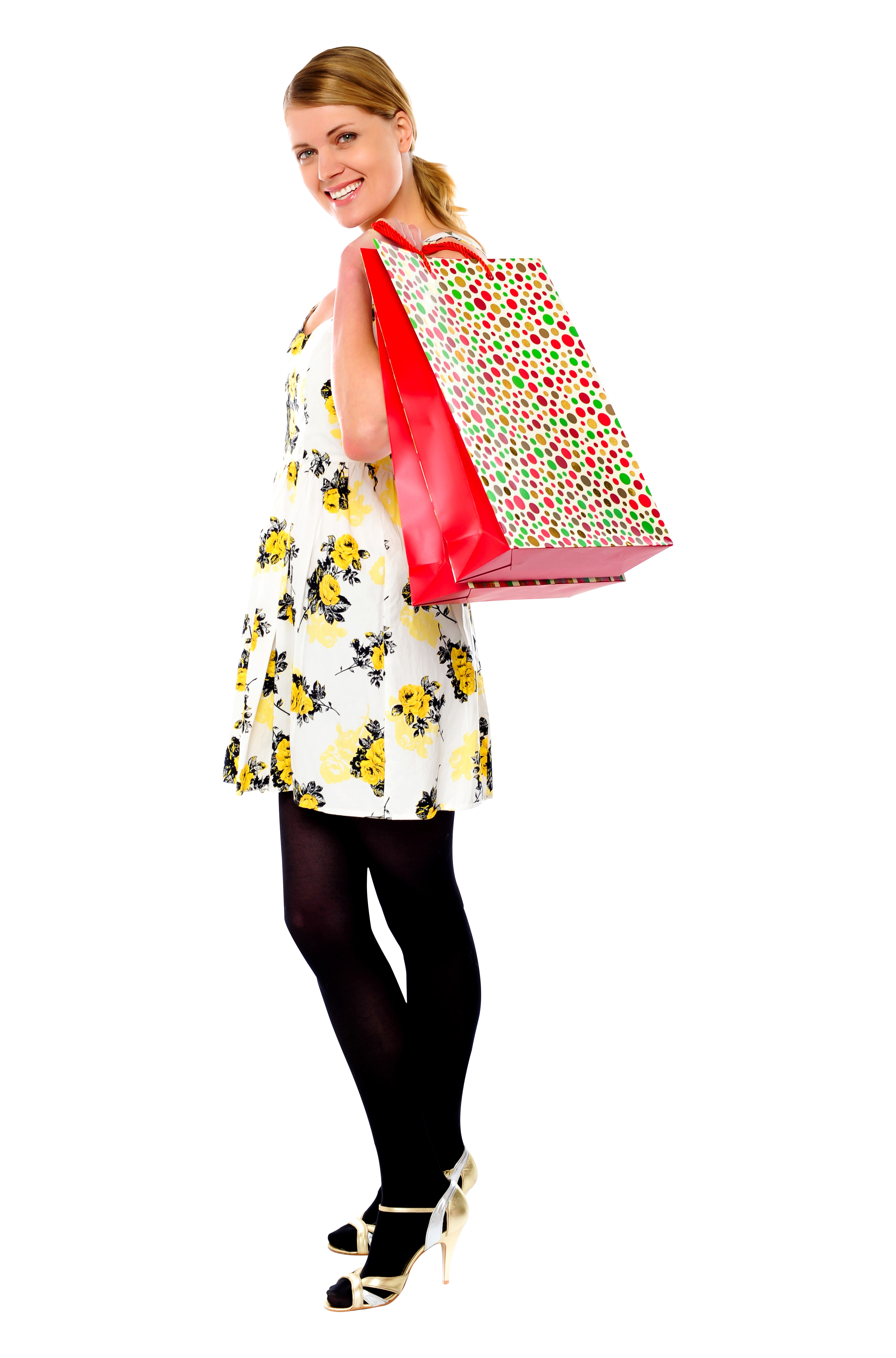 Women Shopping PNG Image