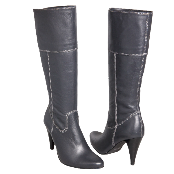 Women's boots made of genuine leather PNG Image