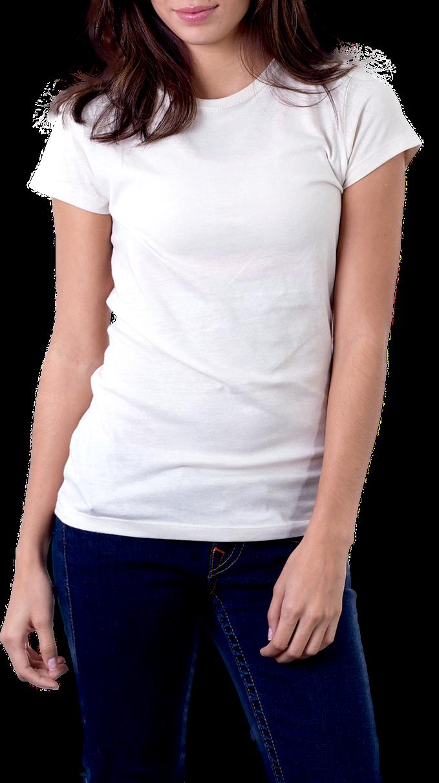 Women's White T-Shirt PNG Image - PurePNG | Free ...