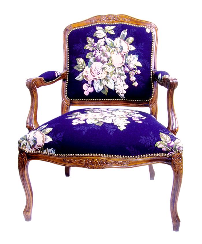 Wooden Chair Blue