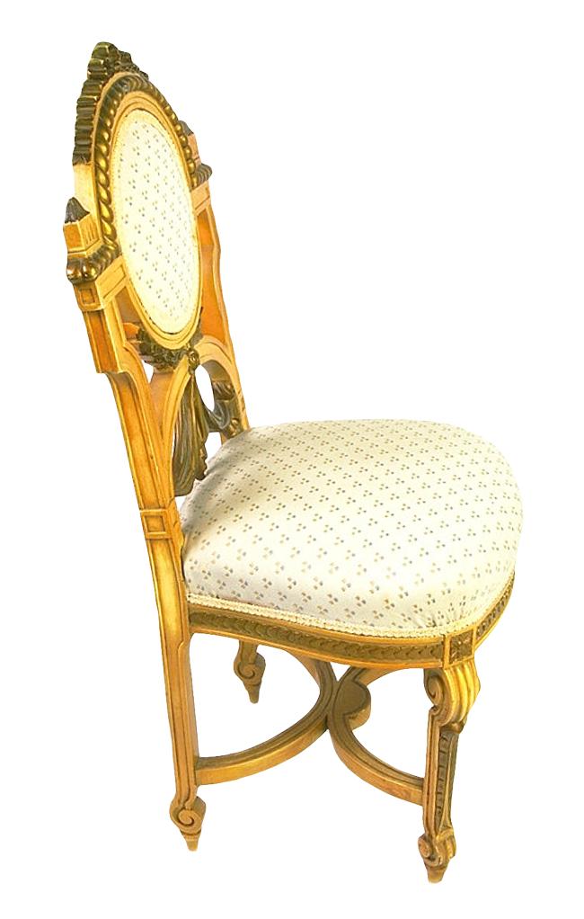 Wooden Chair Golden PNG Image