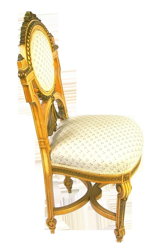 Wooden Chair Golden