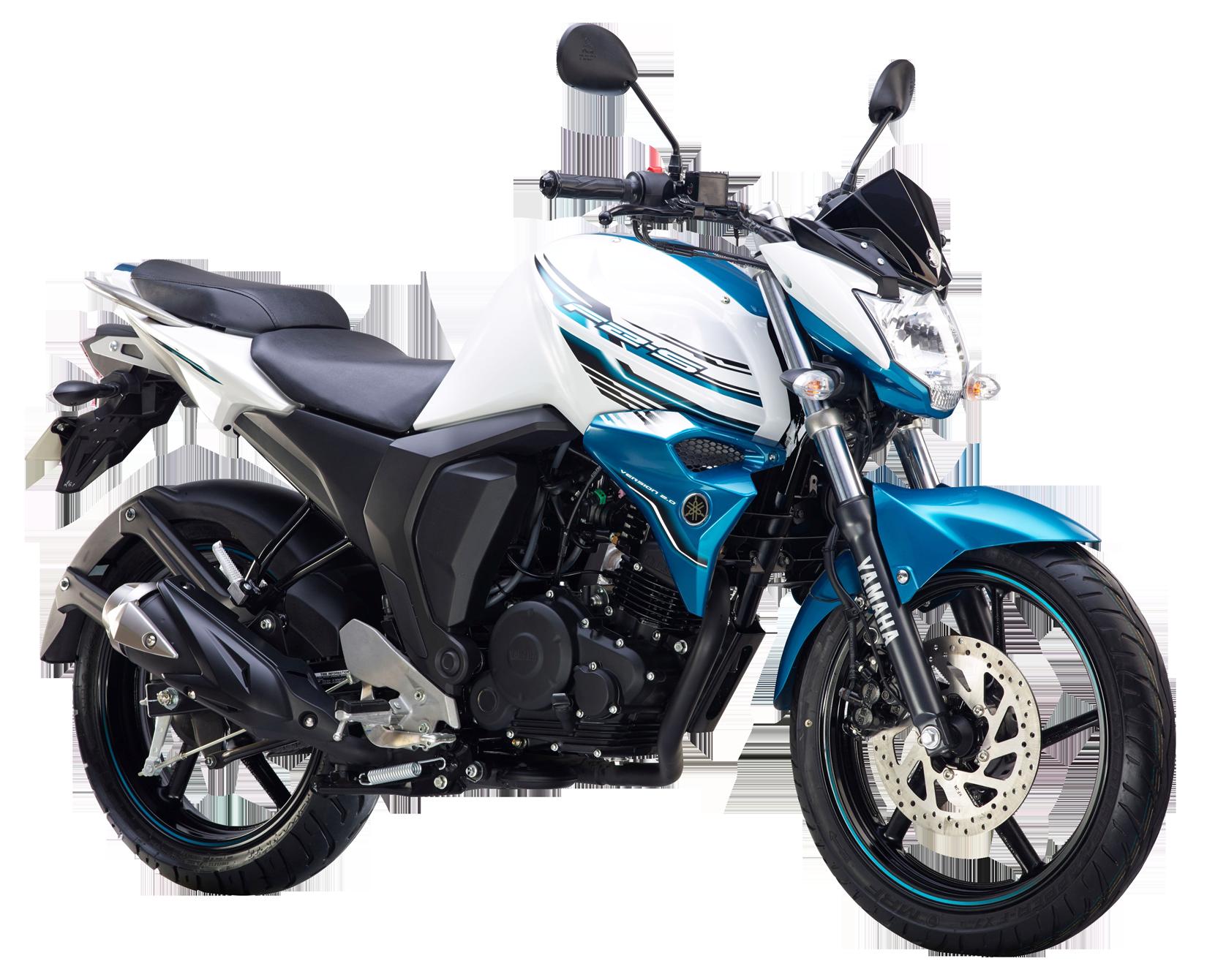 Yamaha FZ S FI White PNG Image
