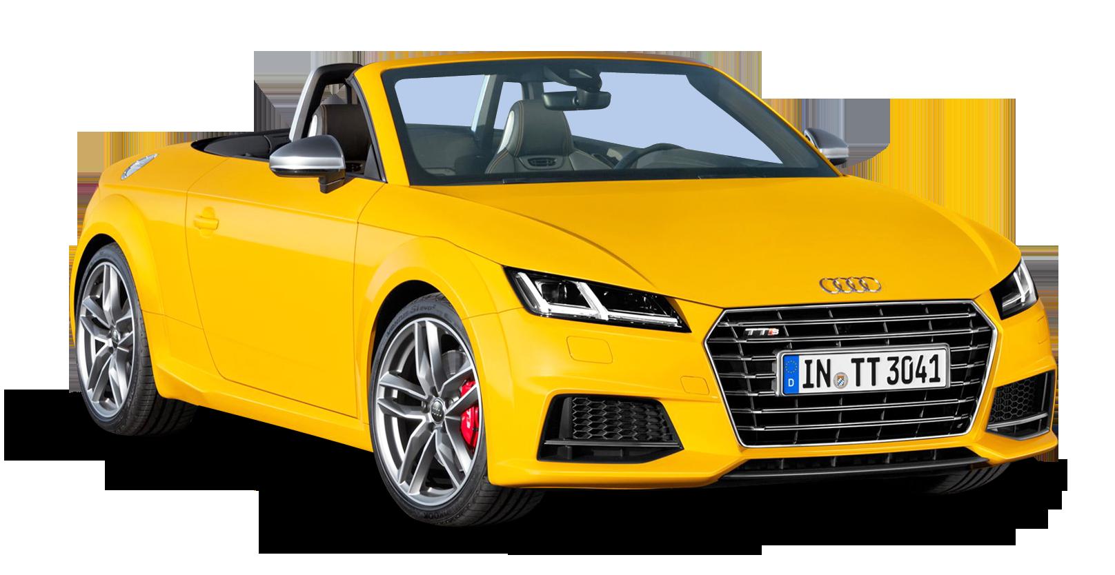 Yellow Audi TTS Roadster Car