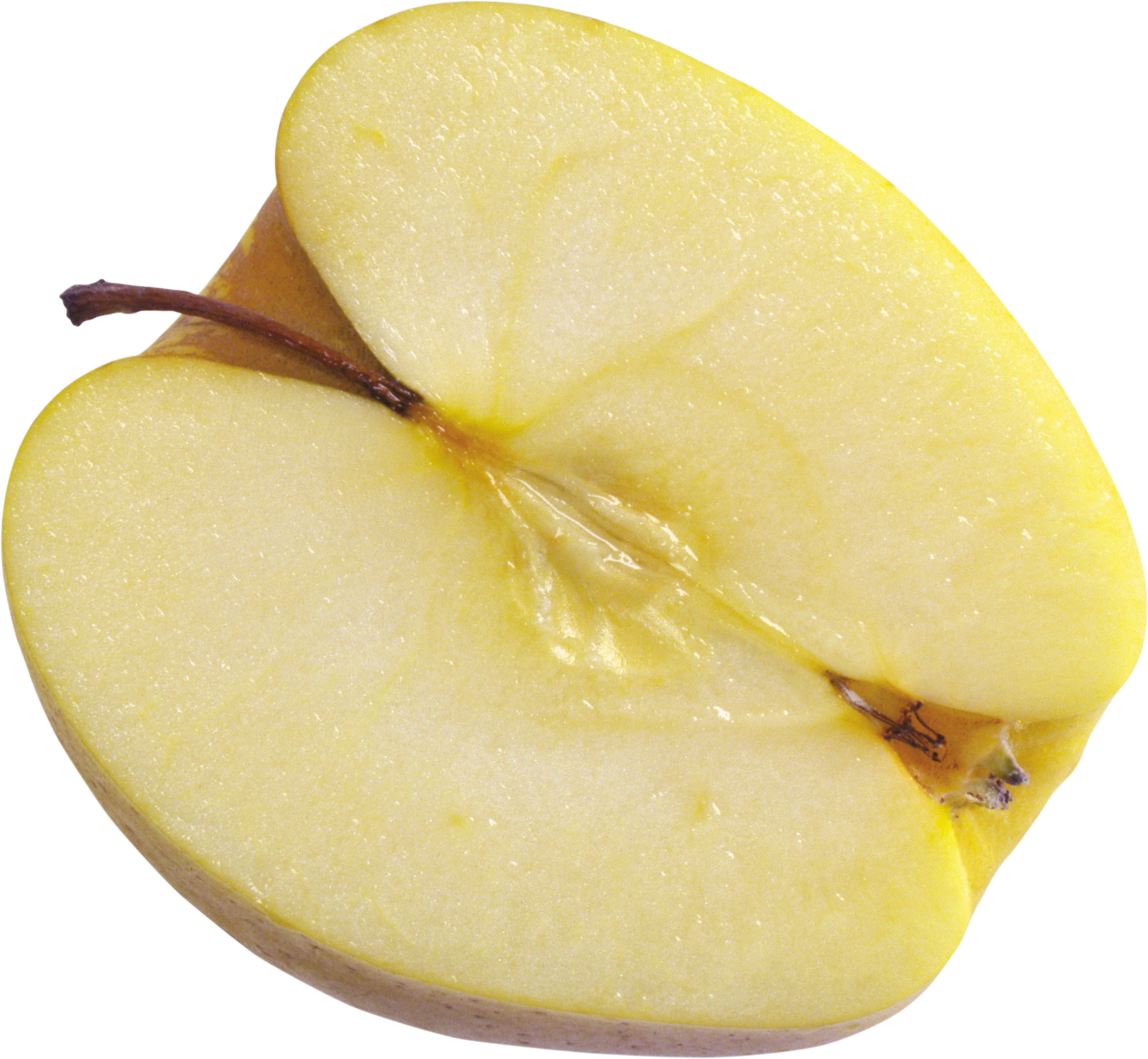 Yellow Cut apple PNG Image