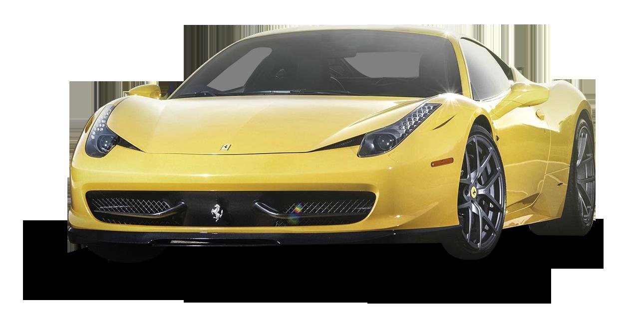 Yellow Ferrari 458 Italia Car