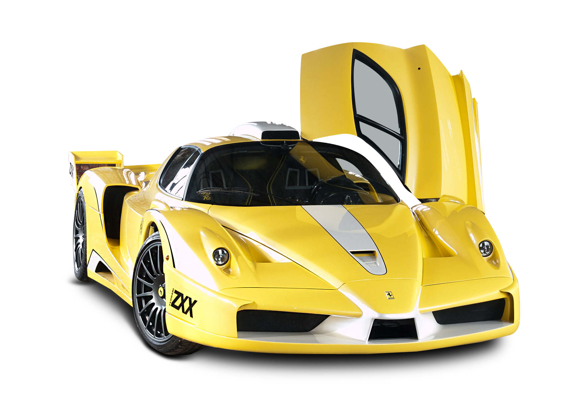 Yellow Ferrari Enzo Edo Car PNG Image