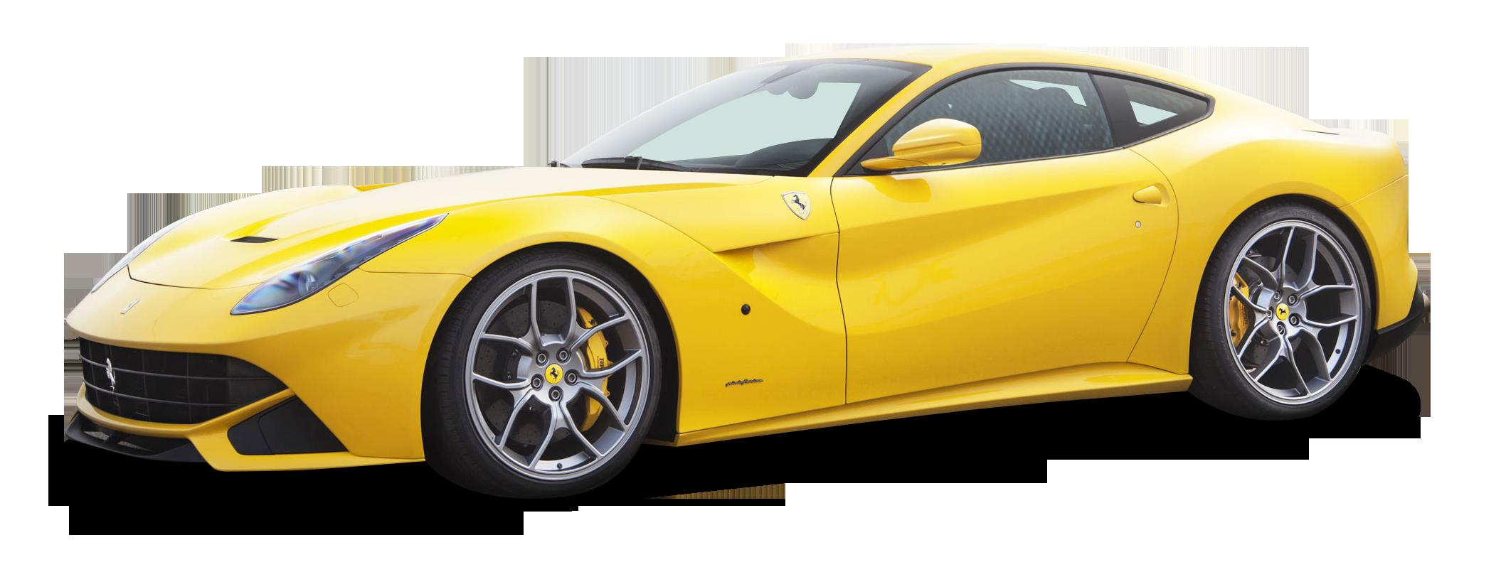 Yellow Ferrari F12berlinetta Car PNG Image