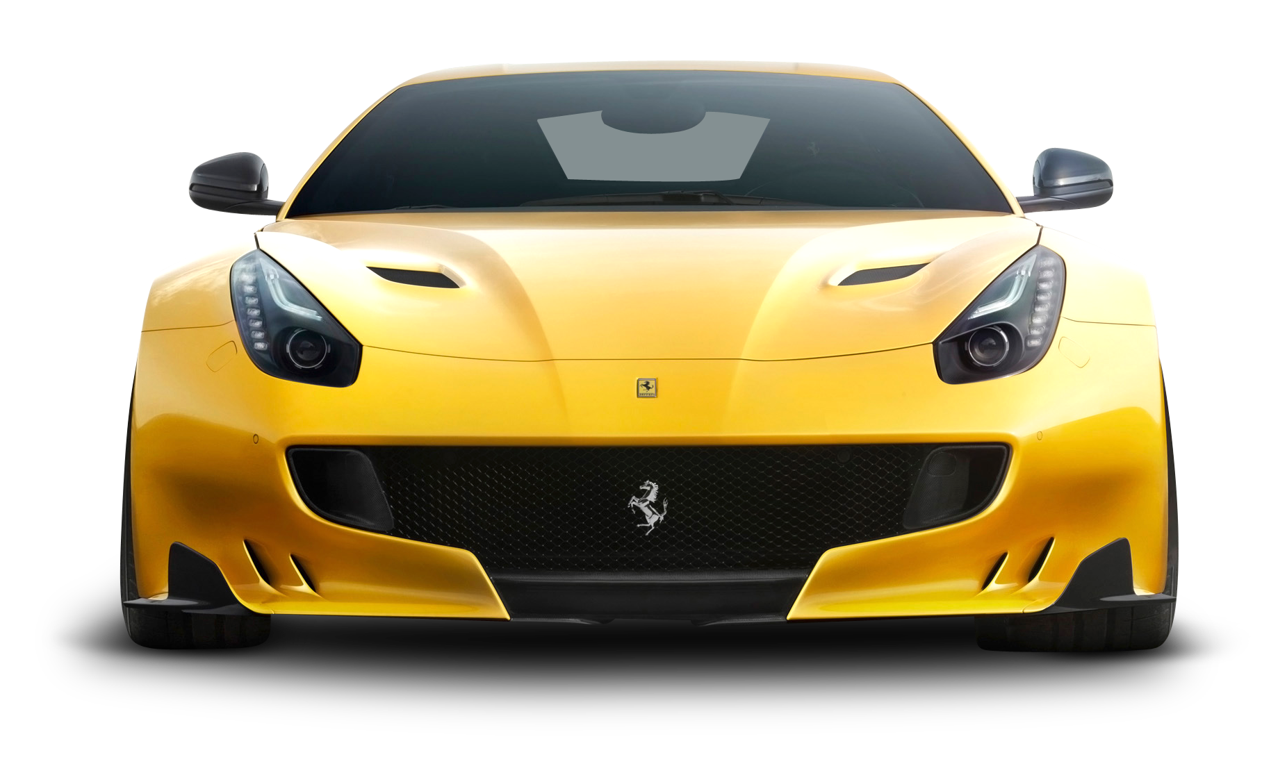 Download Yellow Ferrari F12tdf Car Front Png Image For Free