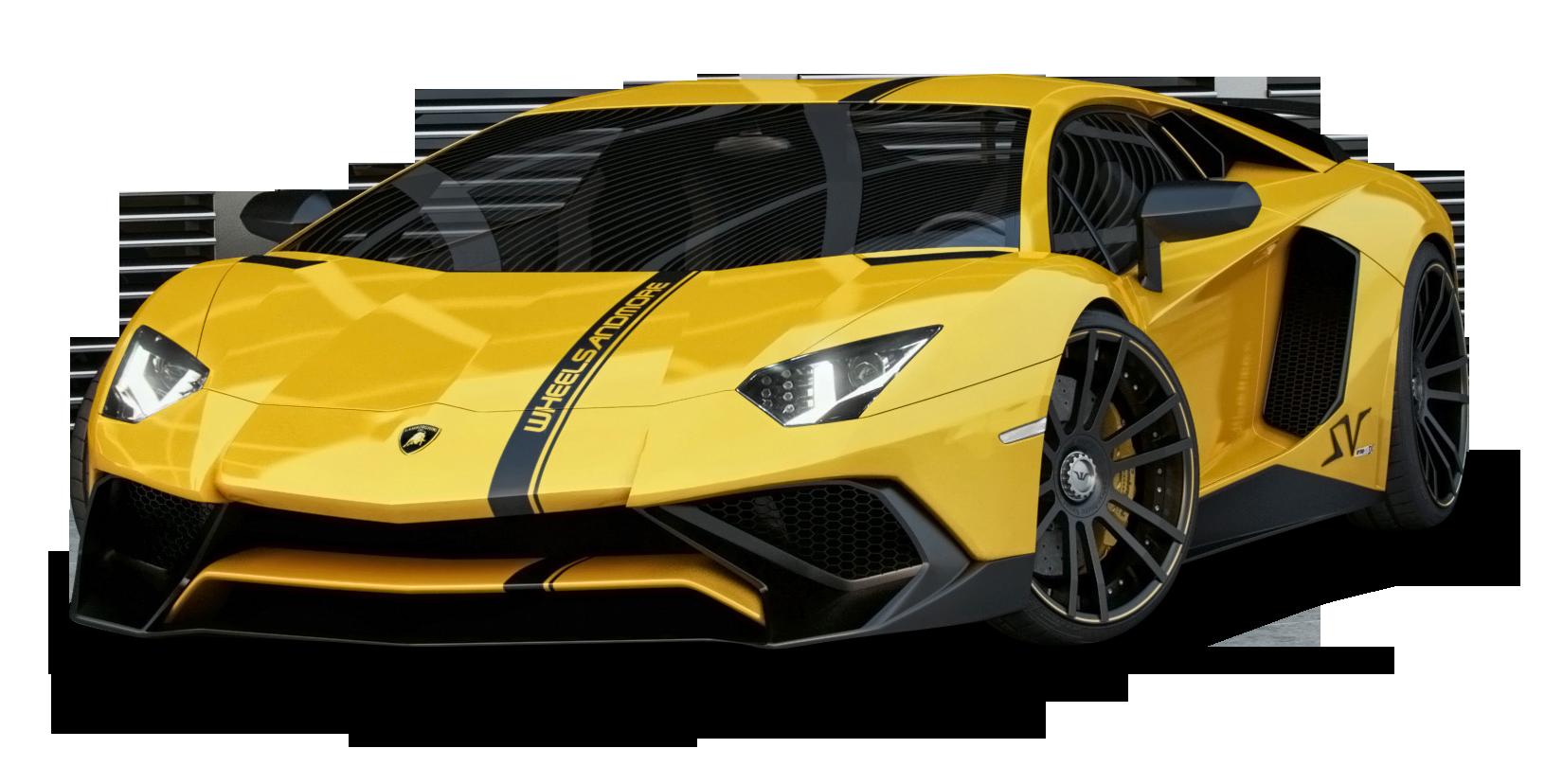 Yellow Lamborghini Aventador Car Png Image Purepng Free