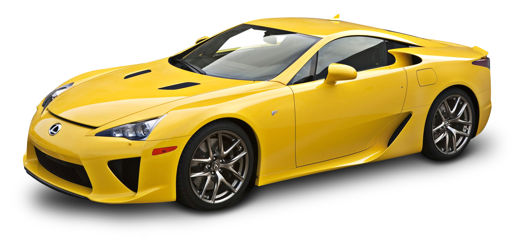 Yellow Lexus LFA Car