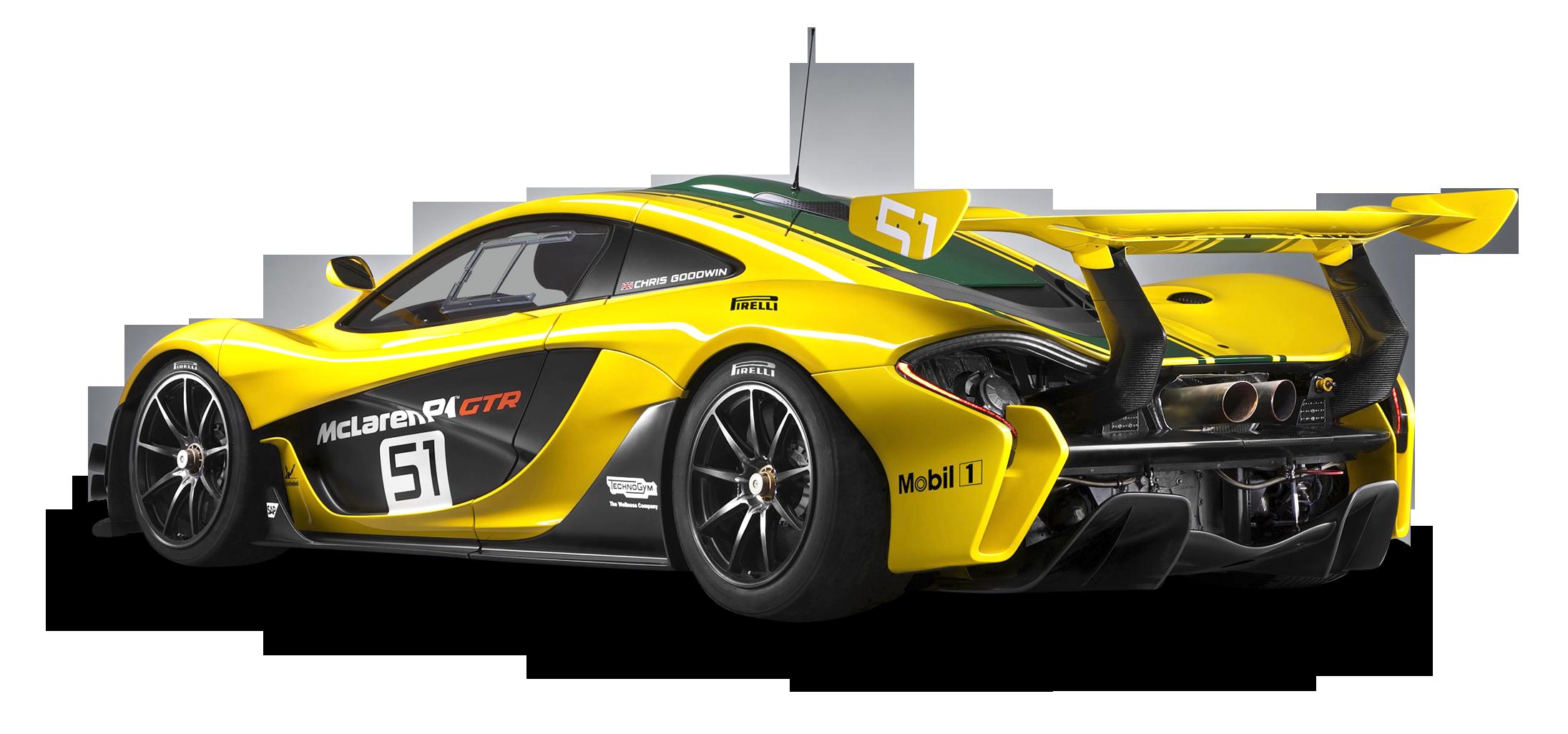 Yellow McLaren P1 GTR Car