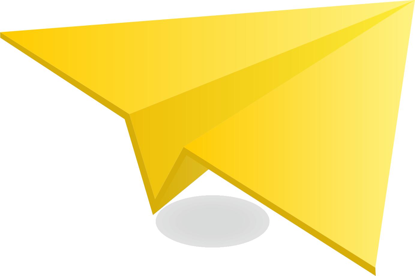 Yellow  Paper Plane