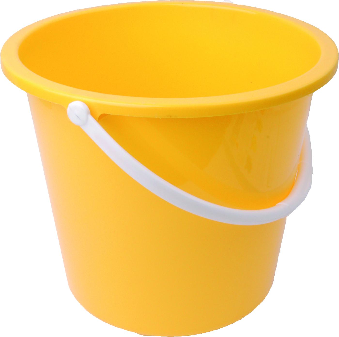 Yellow PLastic Bucket PNG Image
