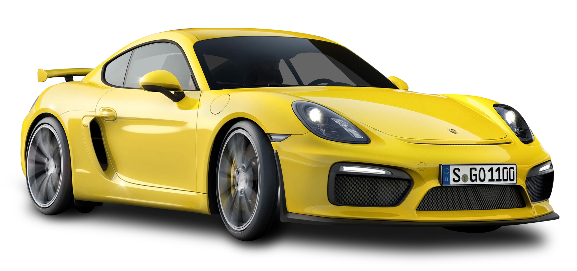 Yellow Porsche Cayman GT4 Car