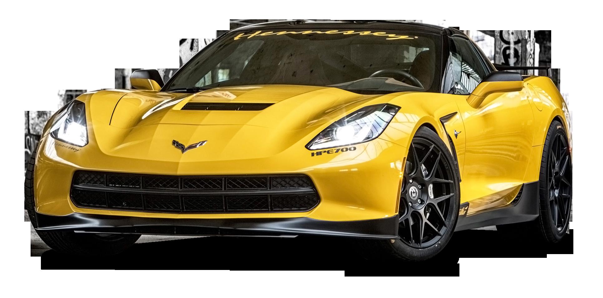 Yellow Ruffer Chevrolet Corvette HPE700 Car