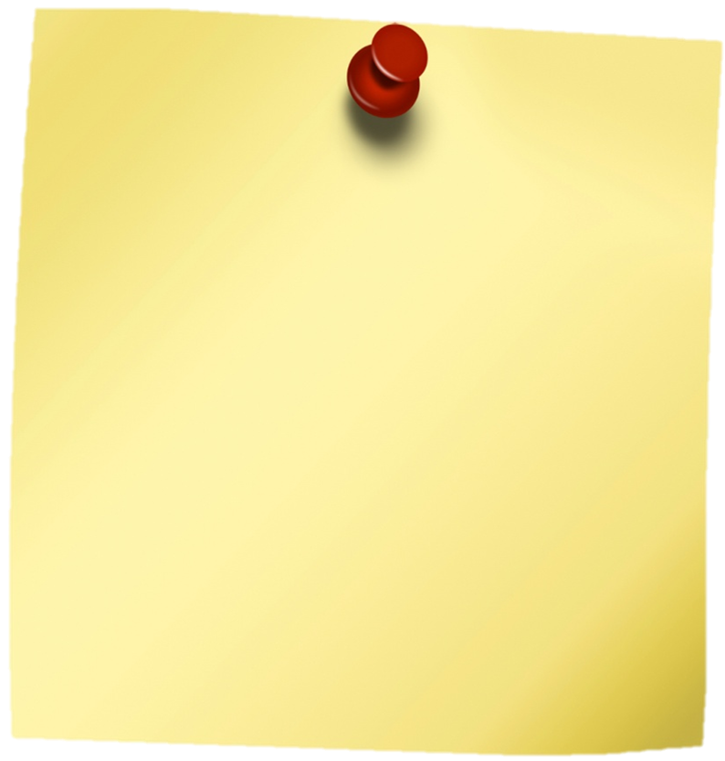 Yellow Sticky Notes PNG Image