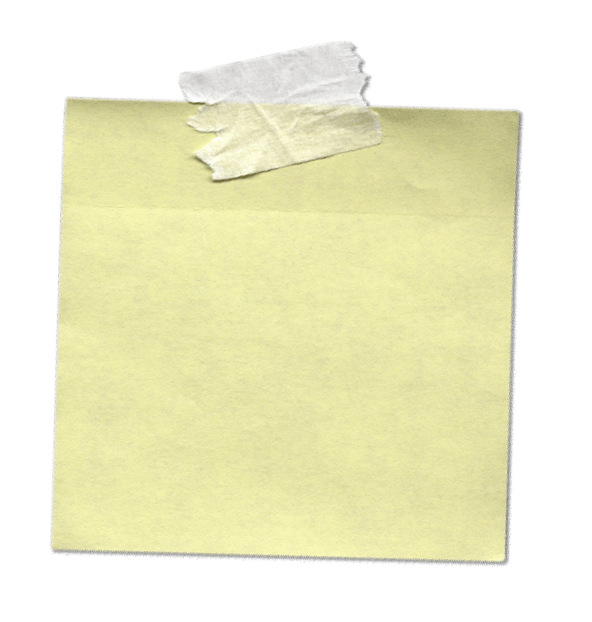 Yellow Sticky Ntes PNG Image