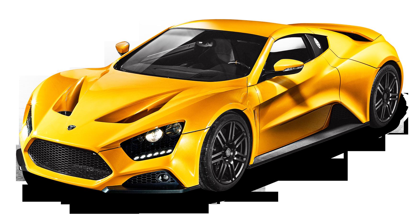Yellow Zenvo ST1 Car