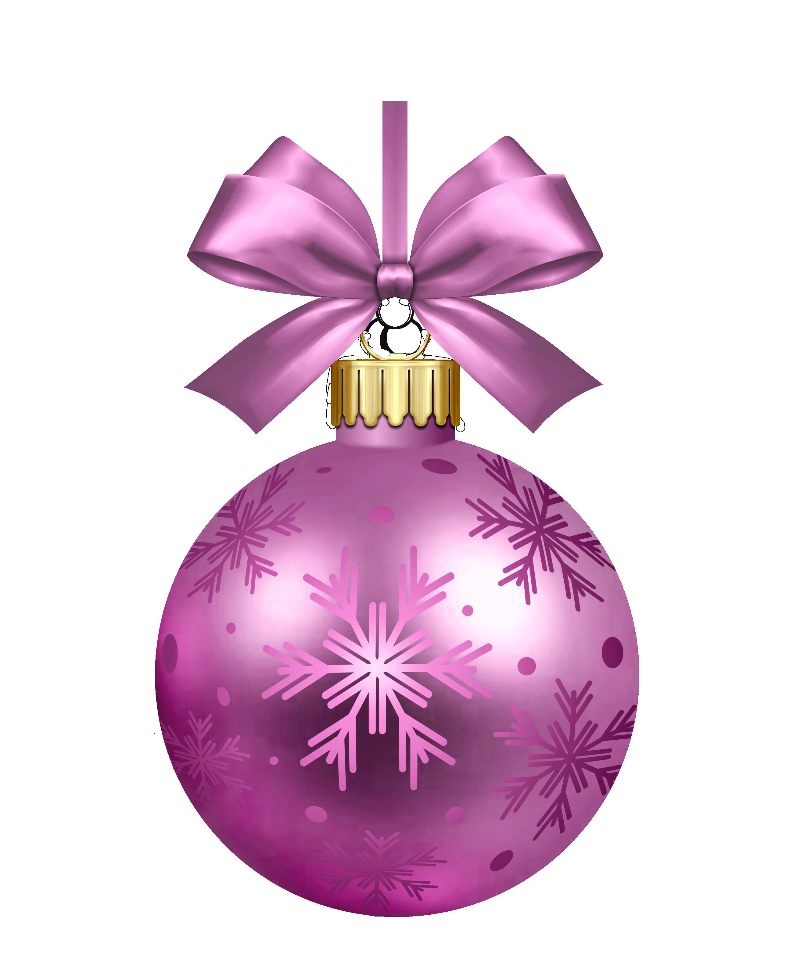 Purple Christmas Bauble PNG Image