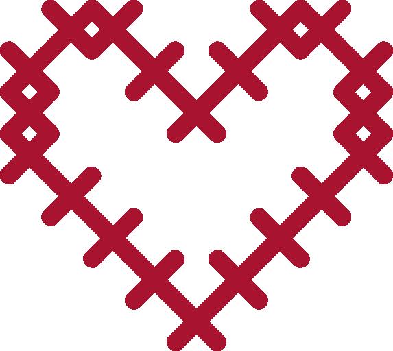 Red Gitter Heart