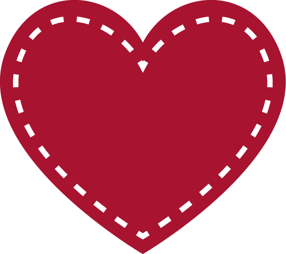 Red Heart Outline PNG Image