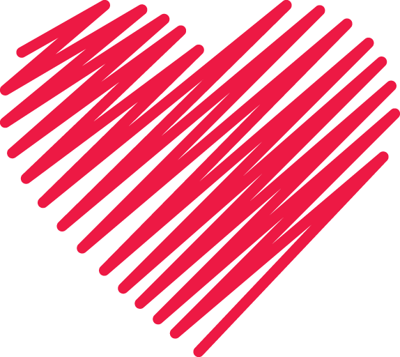 Red Lines Heart PNG Image
