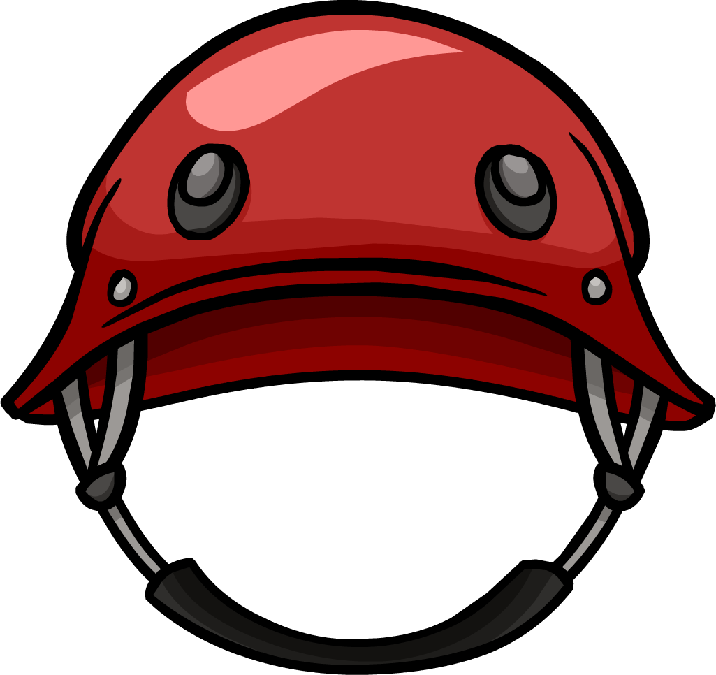 Red Military Helmet Clipart PNG Image