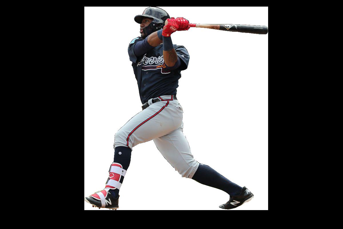 Ronald Acuna Jr batting PNG Image