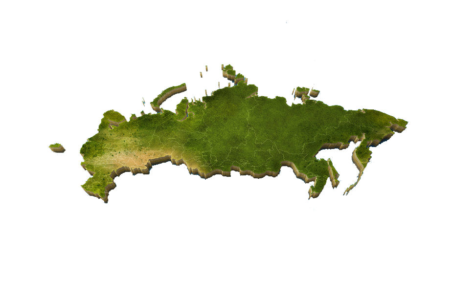 Map of Russia PNG Image