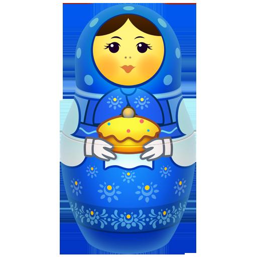 Blue Russian Nesting Doll
