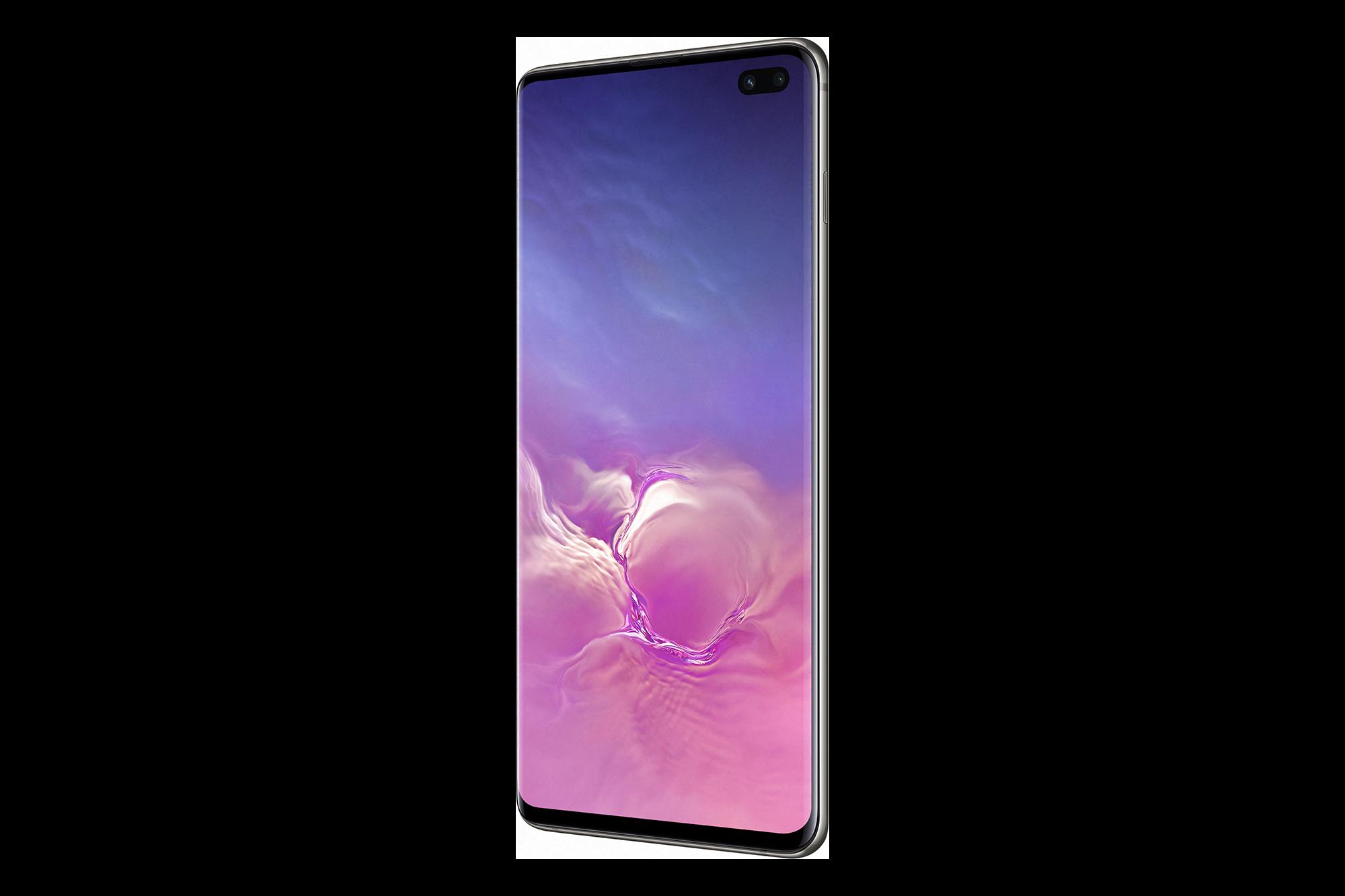 Samsung Galaxy S10 Ceramic Black Side PNG Image