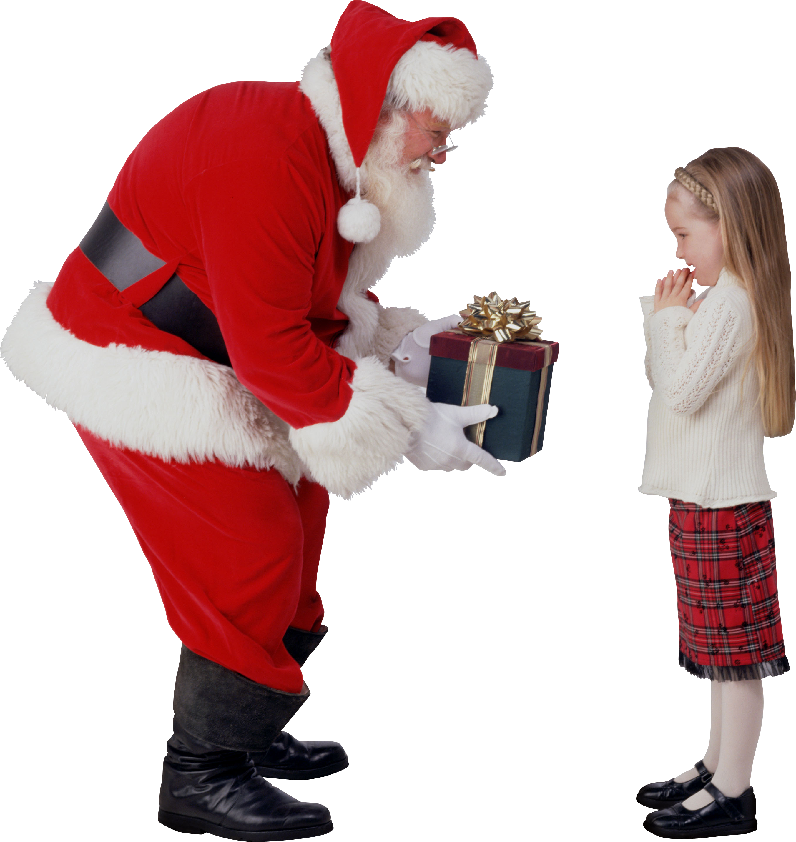 Santa giving a Gift to the child