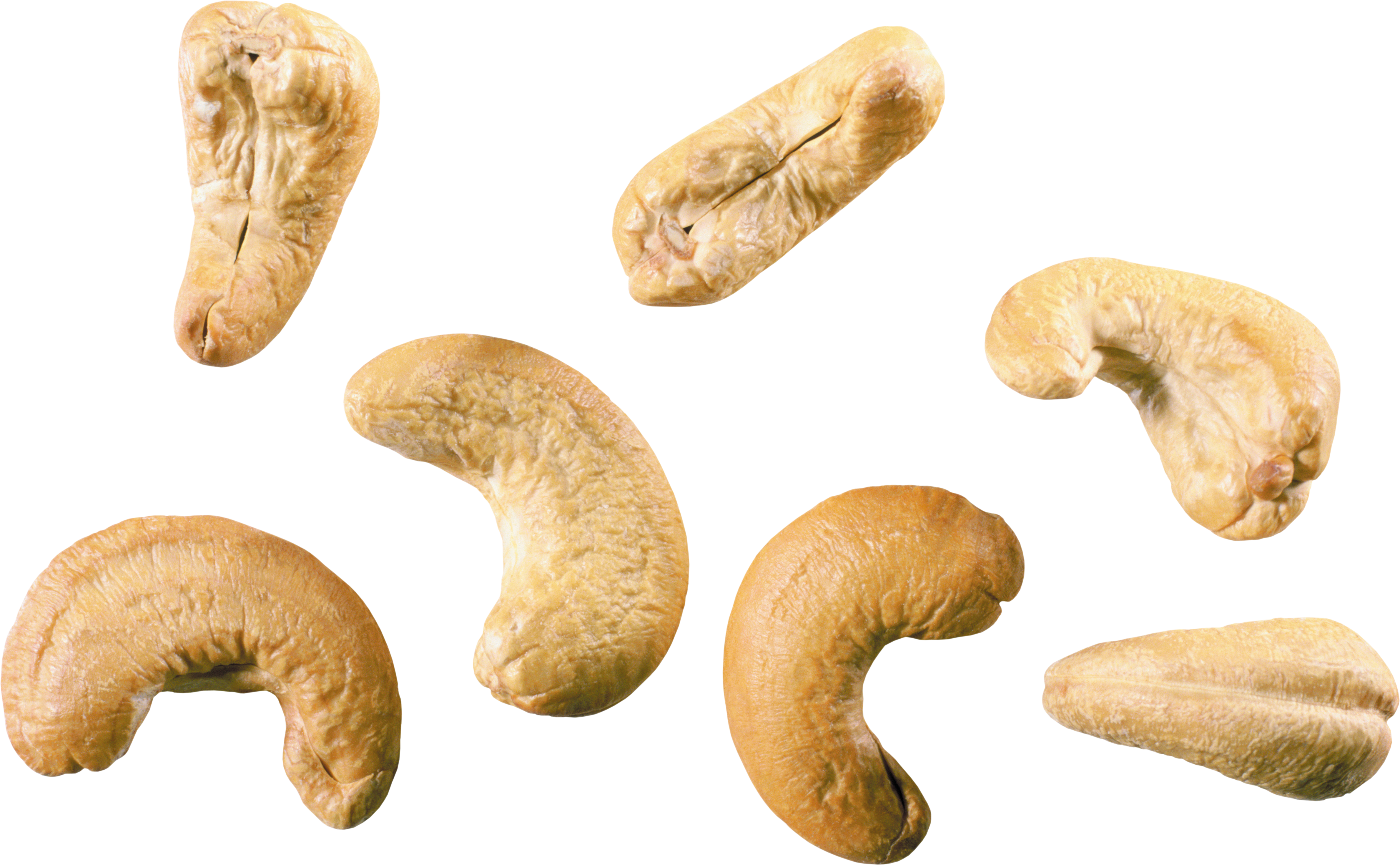 Scattered Cashews PNG Image