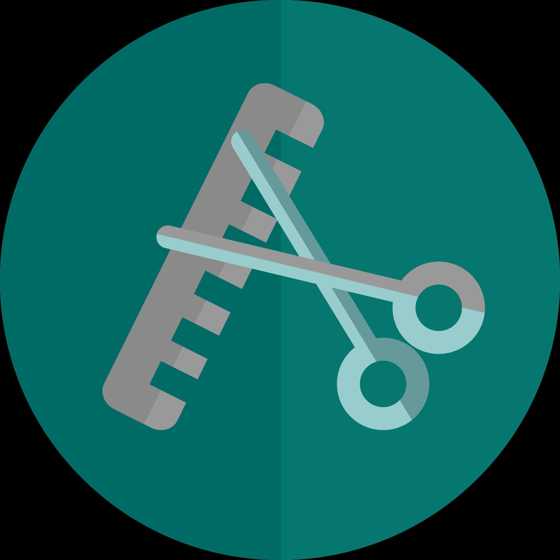 Scissor Comb logo PNG Image
