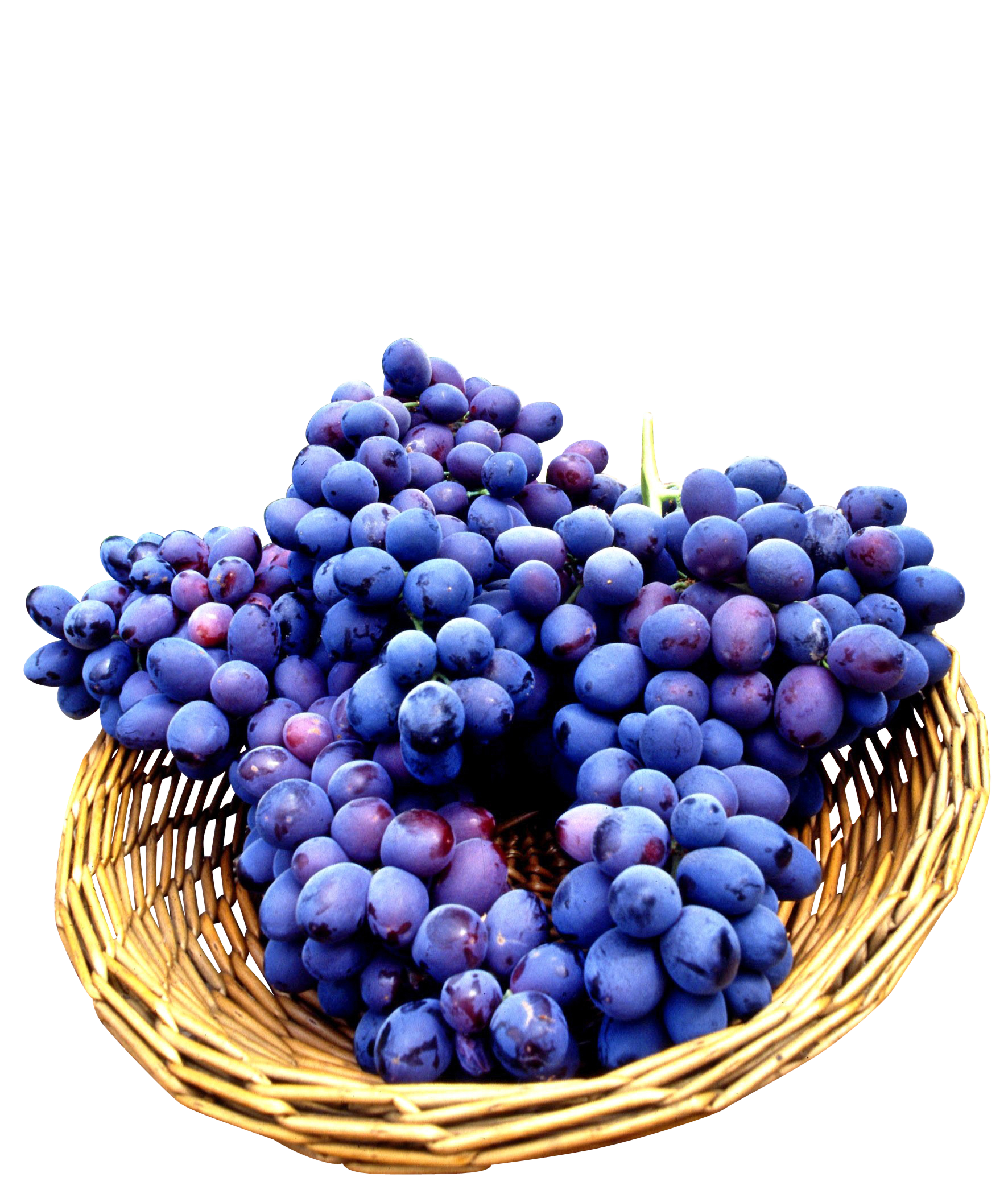 Seedless Grapes in basket PNG Image